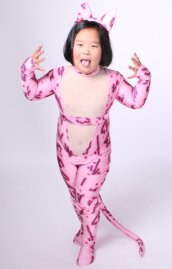 Rose Kitty enfant costume