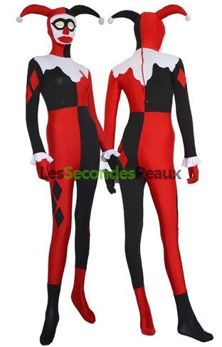 Peau Costume Élasthanne Seconde Lycra Quinn Harley Noir Rouge UVSzMpGq