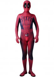 Spider man Deadpool mix costume de cosplay
