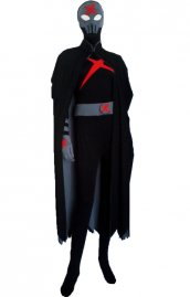 Red X costume élasthanne lycra seconde peau costume avec cape