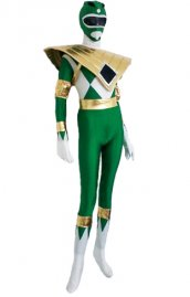 Power Ranger Mighty Morphin vert or lycra déguisement seconde peau 2