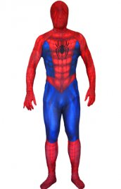 Coupe 3d Spiderman imprimé costume seconde peau effet de muscle