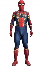 Iron Spider Homecoming imprime Spandex Lycra costume lunettes compris