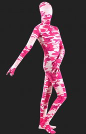 Rose camouflage élasthanne lycra Full Body unisexe seconde peau